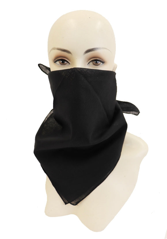 SOLID COLOR BANDANNA (BLACK)