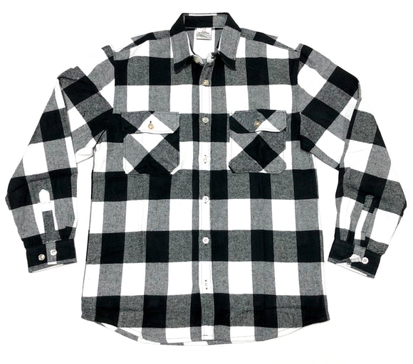 EXTRA HEAVYWEIGHT FLANNEL  SHIRT (WHITE)