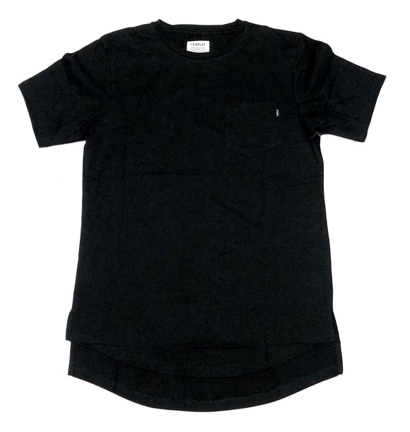 "FAIRPLAY ""GLEN"" SCOOP BOTTOM POCKET TEE"
