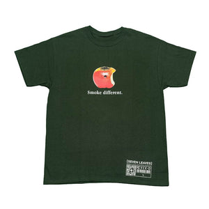 "COMPUTER X SEVEN LEAVES ""SMOKE DIFFERENT"" TEE (FOREST GREEN)"