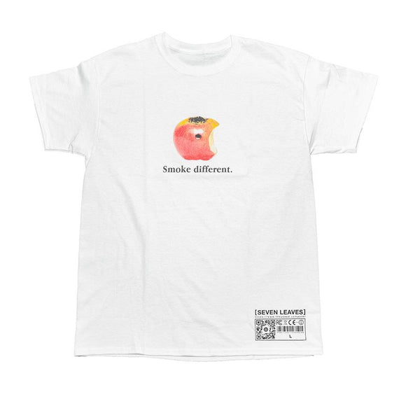 "COMPUTER X SEVEN LEAVES ""SMOKE DIFFERENT"" TEE (WHITE)"