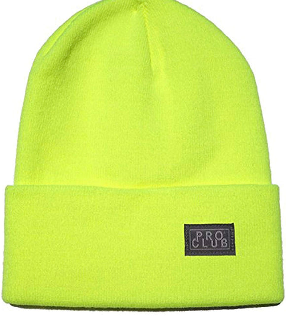 PRO CLUB CUFF BEANIE (SAFETY GREEN)