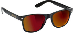 "GLASSY ""LEONARD"" SUNGLASSES - RED MIRROR"