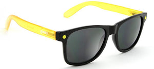 "GLASSY ""LEONARD"" SUNGLASSES - BLACK/YELLOW"