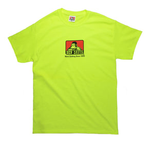 "BEN DAVIS ""LOGO"" TEE (SAFETY GREEN)"