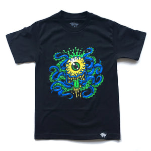 "JIMBO PHILLIPS ""CYCLOPTOPUS"" TEE (BLACK/BLUE)"