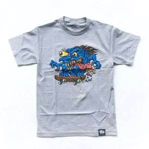 "JIMBO PHILLIPS ""SKATE CREEP"" TEE (HEATHER GREY)"