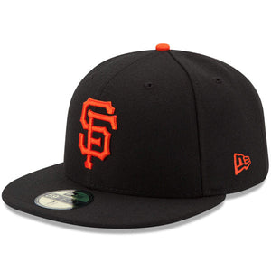 "NEW ERA ""BASIC ON FIELD"" SF GIANTS FITTED HAT (BLACK/ORANGE)"