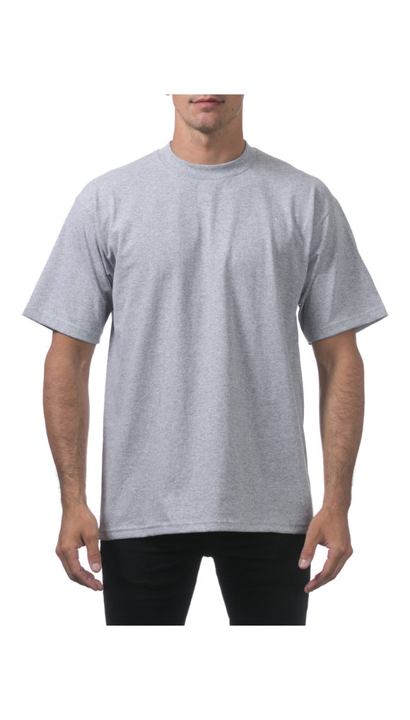 PRO CLUB HEAVY WEIGHT S/S TEE (HEATHER GREY)