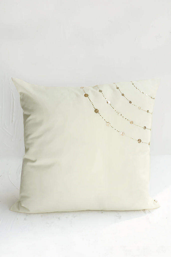 Mehfil Cushion Cover Almond