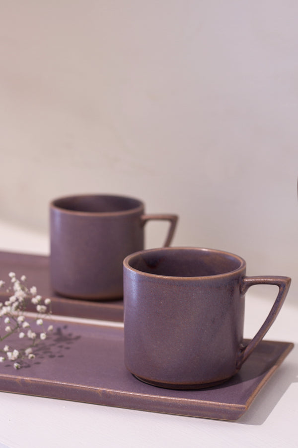 Musky Mauve Cafe Mug - Set of 2