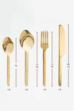 Mogulnama Gold Cutlery Set (24Pc)