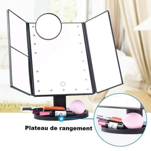 Miroir Maquillage Grossissant Lumineux LED