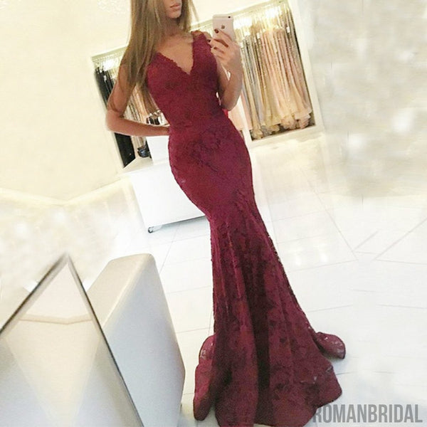 Hot selling sexy Floor-length  lace V-neck Long Party Dresses, Prom evening Dress, PD0448