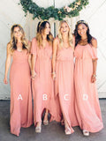 Hot Selling Floor-length V-neck Simple Long Cheap Bridesmaid dresses, BD0033
