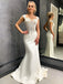 Sexy V-neck Mermaid Cheap Long Wedding Dresses Online,RBWD0025