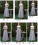 A-line Off-shoulder Long Chiffon Bridesmaid Dresses With Pleats, BD0566