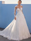 Elegant Sweetheart Lace A-line Cheap Long Wedding Dresses Online,RBWD0027