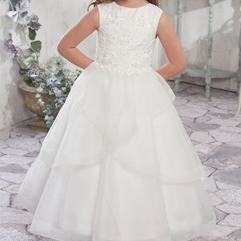Beautiful flower girl dresses romanbridal white lace sleeveless tulle tutu elegant princess dress flower girl dresses fg0120 mightylinksfo