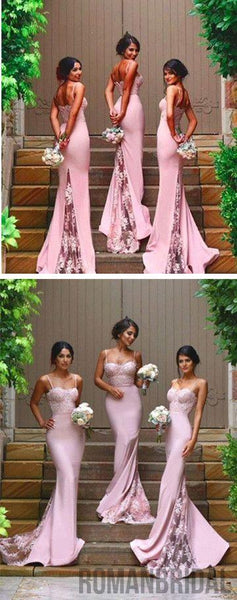 2018 New Design Online Sexy Mermaid Sweet Heart Lace Long Bridesmaid Dresses, WG08