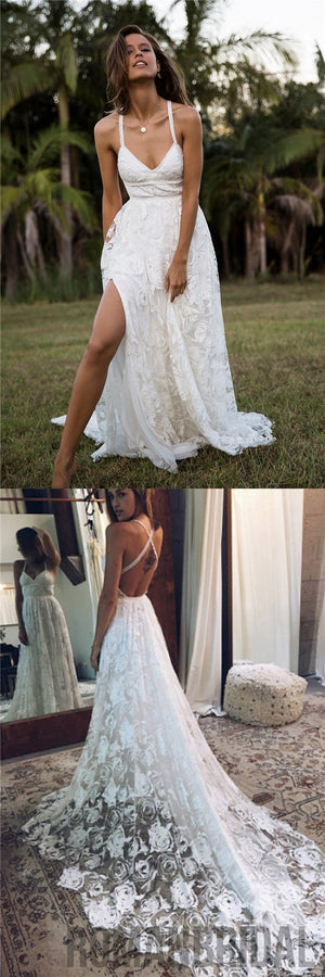 2018 charming lace long a line fashion spaghetti straps wedding 2018 charming lace long a line fashion spaghetti straps wedding dress new unique design junglespirit Choice Image