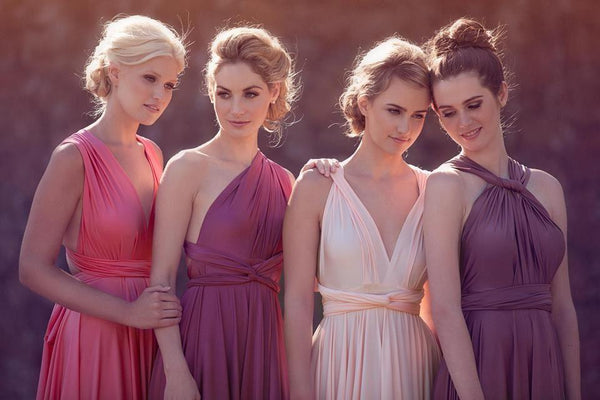 2018 New Cheap Affordable Formal Comfortable Different Color Convertible Bridesmaid Dresses, PD0261