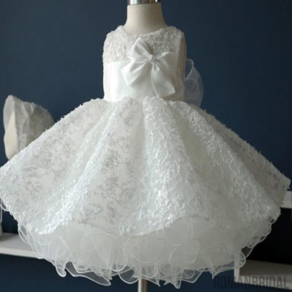 882a9f64ef4 Scoop Sleeveless Lace Tulle Flower Girl Dresses