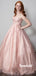 Simple Straight A-line Pink Cheap Long Prom Dresses,RBPD0113