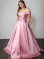 Simple Off-Shoulder A-line Pink Cheap Long Prom Dresses,RBPD0114