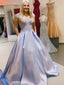 Simple Off-shoulder Satin Cheap Long Prom Dresses,RBPD0119