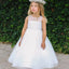 A-line Round Neck Sleeveless Ankle-length Flower Girl Dresses, FG0140