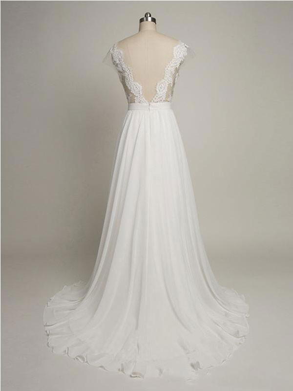 Charming A-line Tulle Scoop Neckline Beaded Lace Appliques wedding dresses, WD0333
