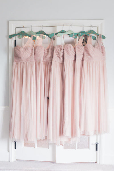 A-line Sweetheart One-shoulder Tulle Bridesmaid Dresses, BD0564