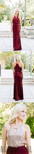 2018 Charming Mismatched Sequin Sparkly Bridesmaid Dresses, Popular Bridesmaid Dress, PD0339