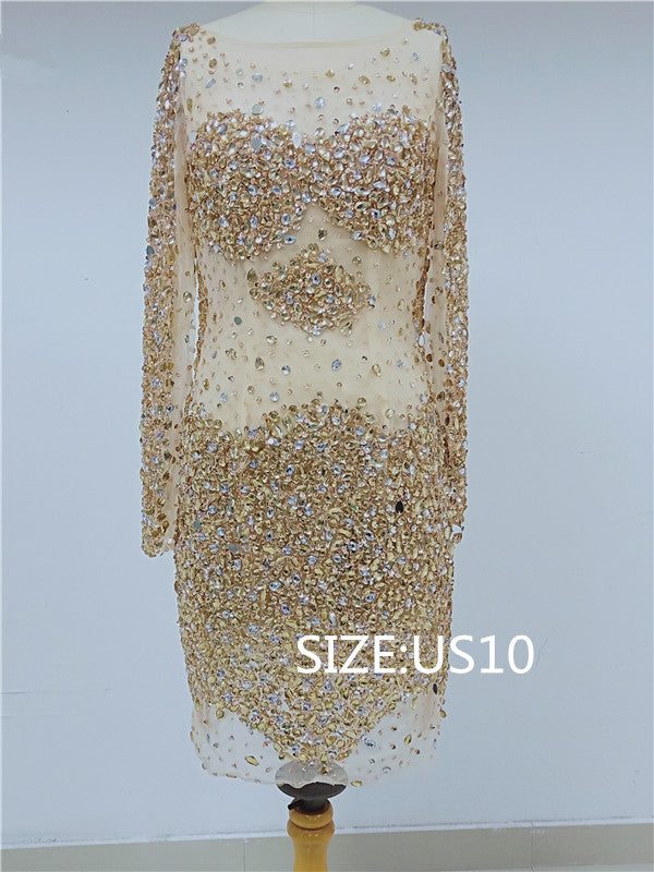 Discount Sparkly Long Sleeves Homecoming Dresses, DD0107