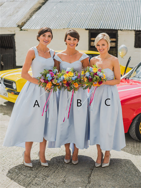 A-line Sweetheart Simple Cheap Short Bridesmaid Dresses, BD0608
