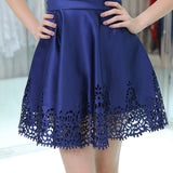 A-line V-neck Backless Lace Appliques Short Homecoming Dresses, HD0503