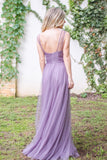 New Arrival tulle Spaghetti Straps Floor-length elegant long Bridesmaid dresses, BD0429