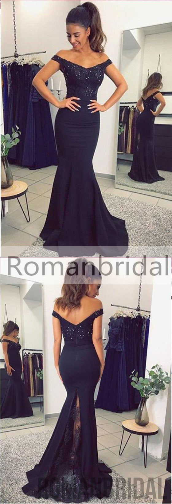 2018 Amazing Hot Lace Mermaid Prom Dresses 2018 Appliques Beaded Open Back Evening Gown, Prom Dress, PD0435