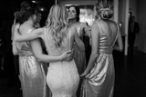 A-line V-neck Sleeveless Long Sequins Backless Bridesmaid Dresses, BD0621