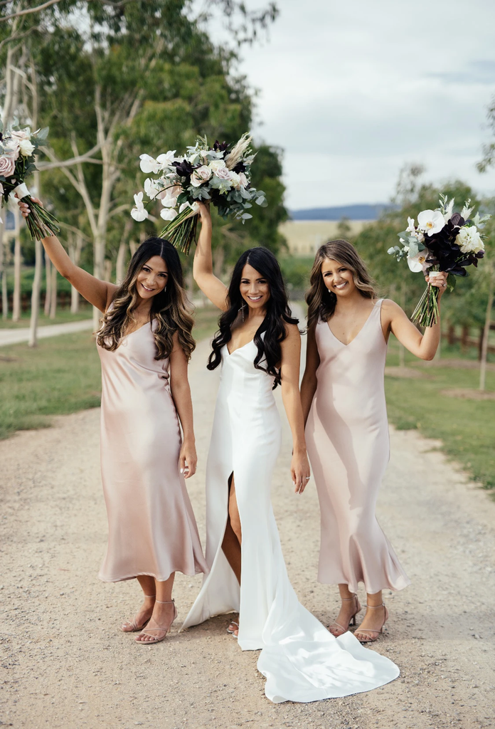 Sheath V-neck Sleeveless Backless Short Blush Bridesmaid Dresses, BD0641