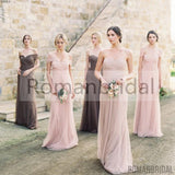 2018 Hot Selling Floor-length Column Pleats Strapless Sleeveless Empire evening dress, Bridesmaid Dress, BD0404