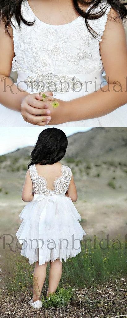 White flower girl dress,White lace dress,White tutu dress,Toddler lace dress, flower girl lace dresses, rustic flower girl dress, FG0112