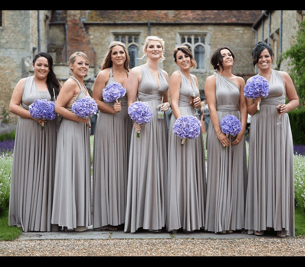 A-line Floor-length V-neck Sleeveless Long Bridesmaid Dresses, BD0589