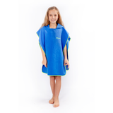 Microfibre Kids Afterswim Hoodie - Royal Blue / Yellow
