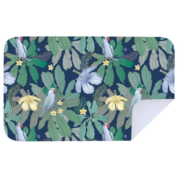Microfibre XL Printed Towel - Yellow flower bird