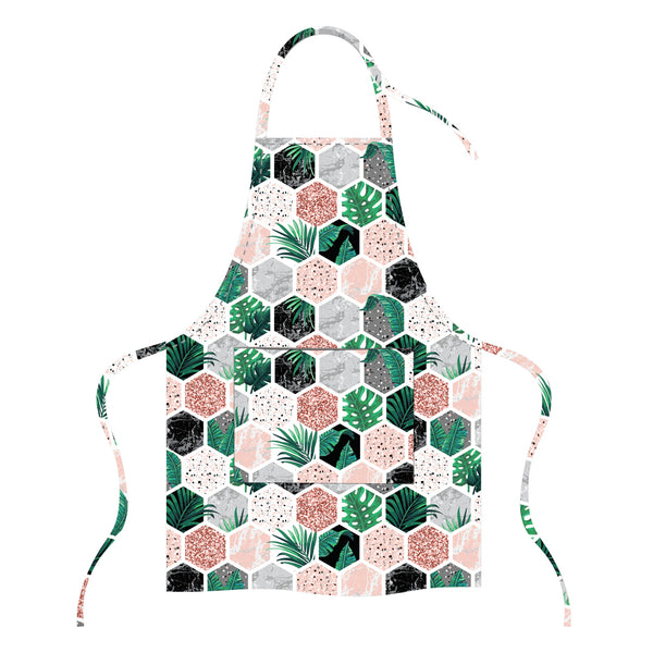 Microfibre Printed Apron - Hexagon fern