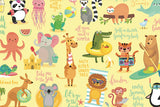 Microfibre L Printed Towel - Beach animals