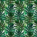 Microfibre Printed Beach Blanket - Big green leaves