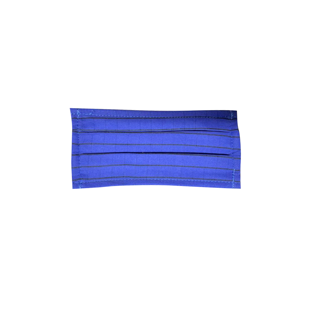 10pcs TRIPLE LAYER - POLY COTTON - Non medical fabric masks - Pack of 10 Blue Striped Masks